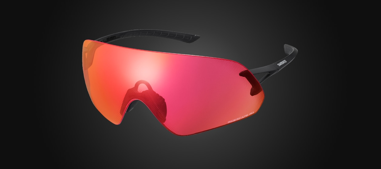 AEROLITE P WIDENS THE WORLD WITH A RIMLESS PANORAMIC VIEW LENS FEATURING EXCEPTIONAL CLARITY AND SMOOTH AERO PROFILE.
