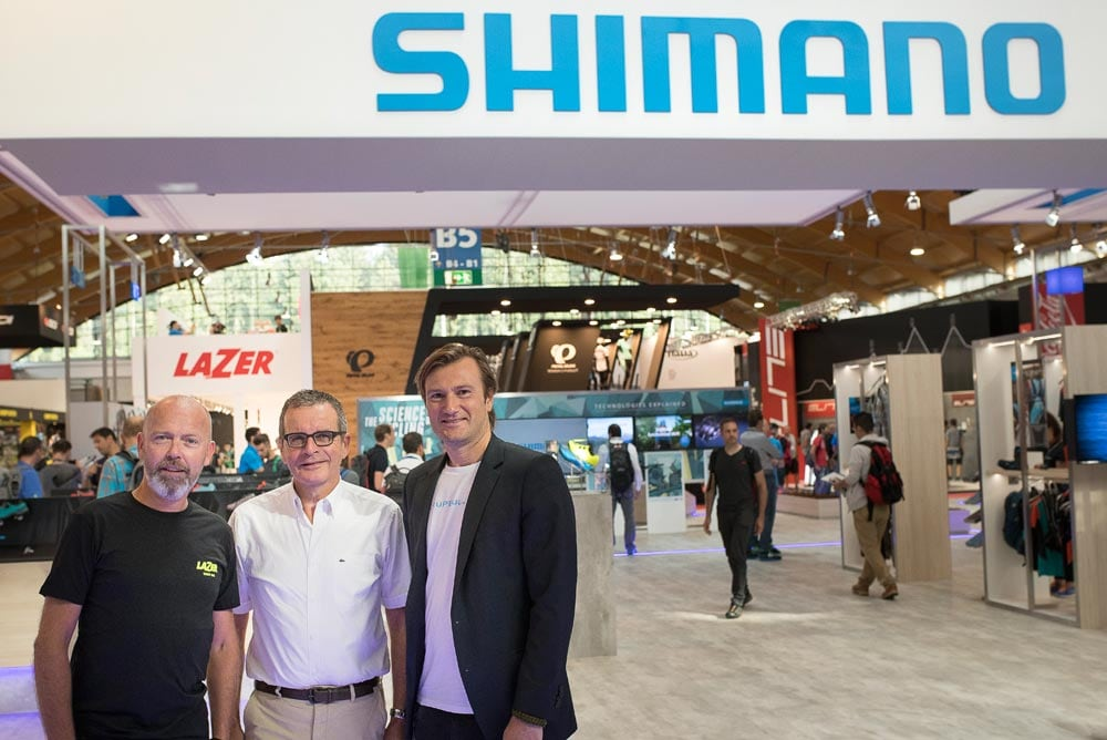 Lazer Managing Director Sean van Waes, Shimano  Europe President Marc Van Rooij and Lazer Sales Director Peter Steenwegen-lo.jpg