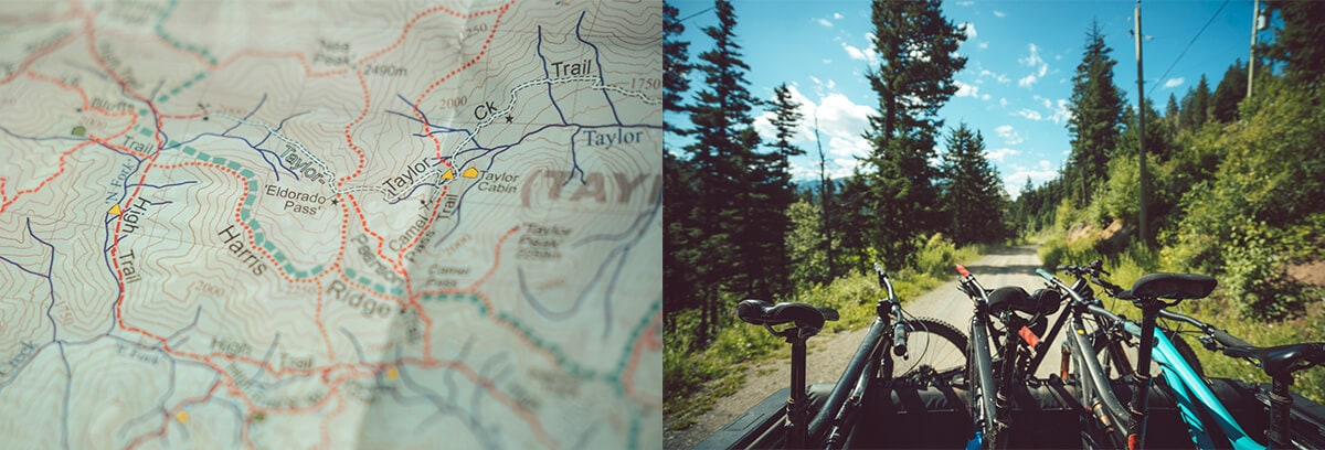 Mountain Bikes and Maps