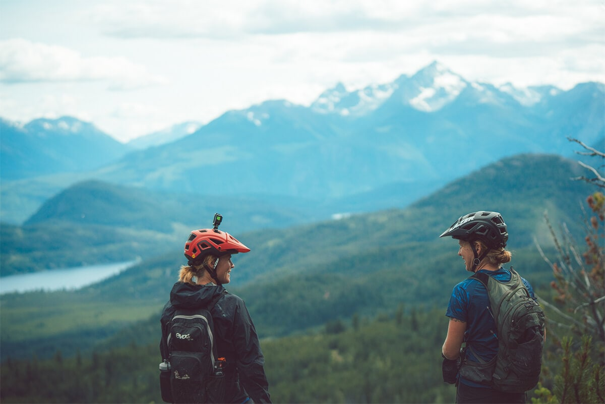 Women Mountain Biking in B.C