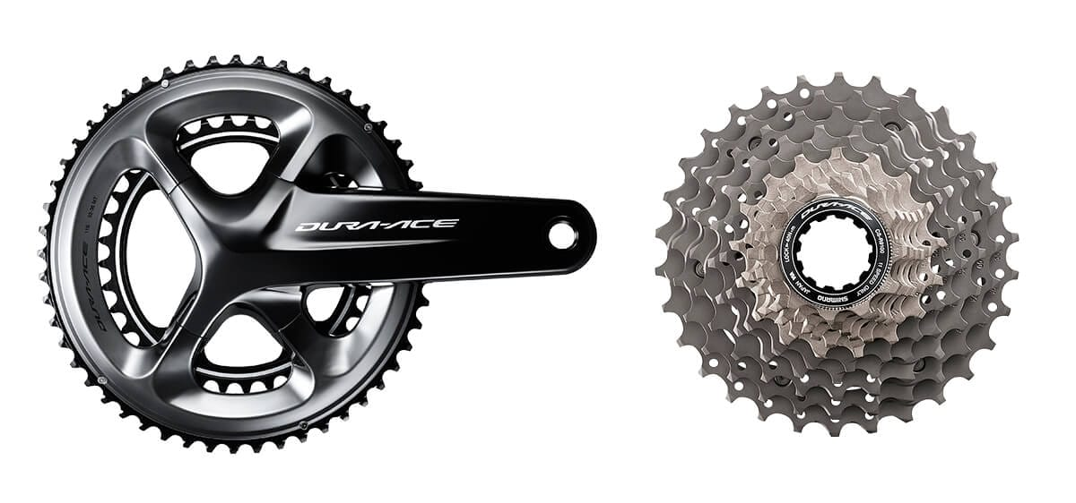 Dura-Ace crank and cassette