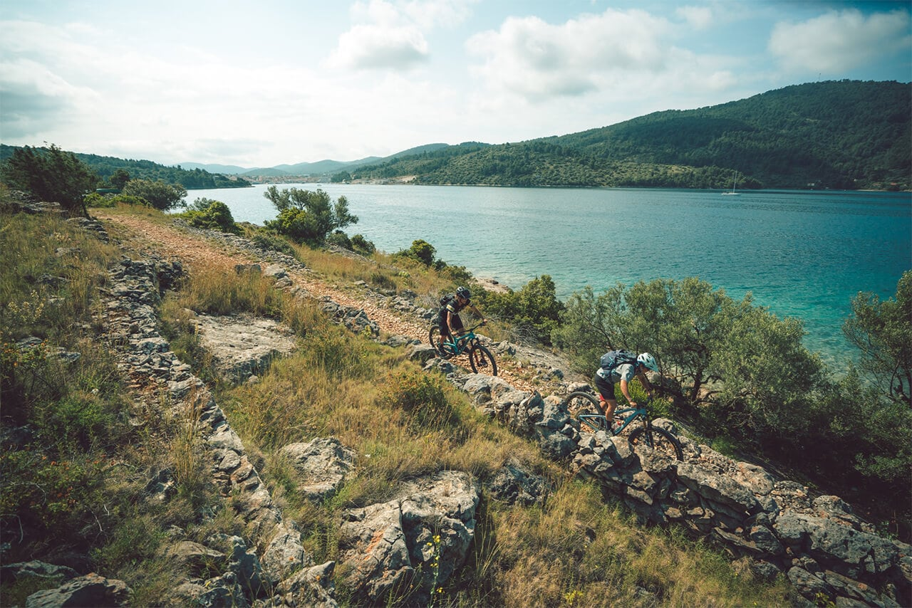 Biking on Croatian Island