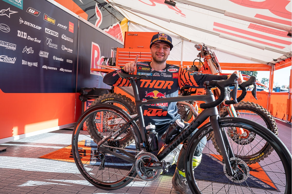 Cooper Webb with Specialized Road Bike