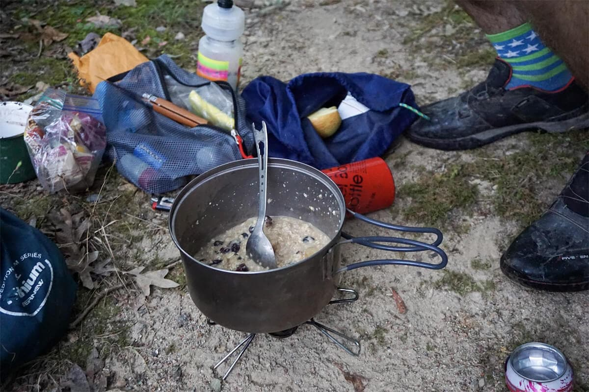 Backcountry cooking Oats