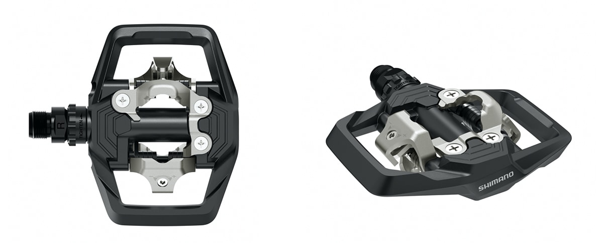 2021 Shimano PD-EF205-S Platform Pedals w// Friction Plate Free Shipping New