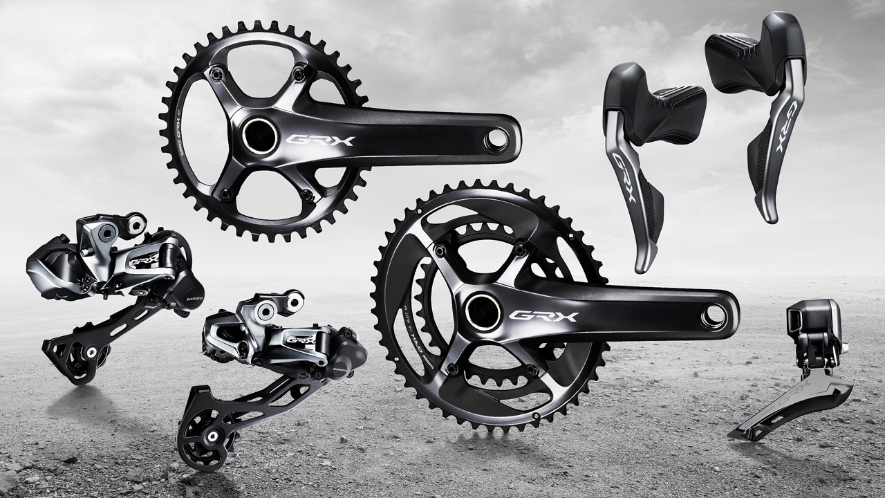 Low:34T Front Double Compatible SHIMANO GRX RD-RX810 Rear Derailleur 11-Speed